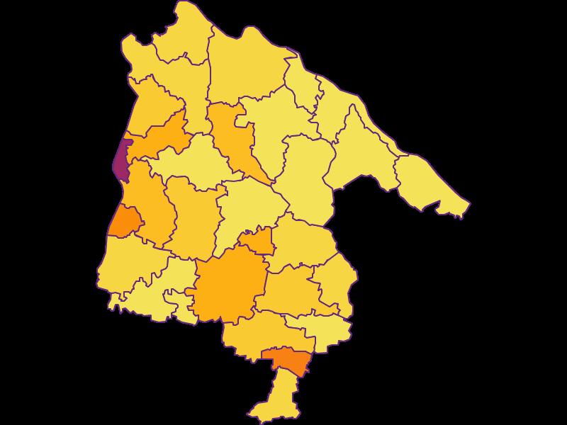 Population density in Schärding