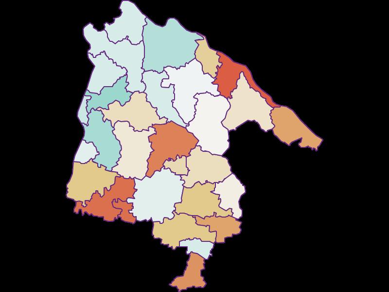 Population development since 1869 in Schärding