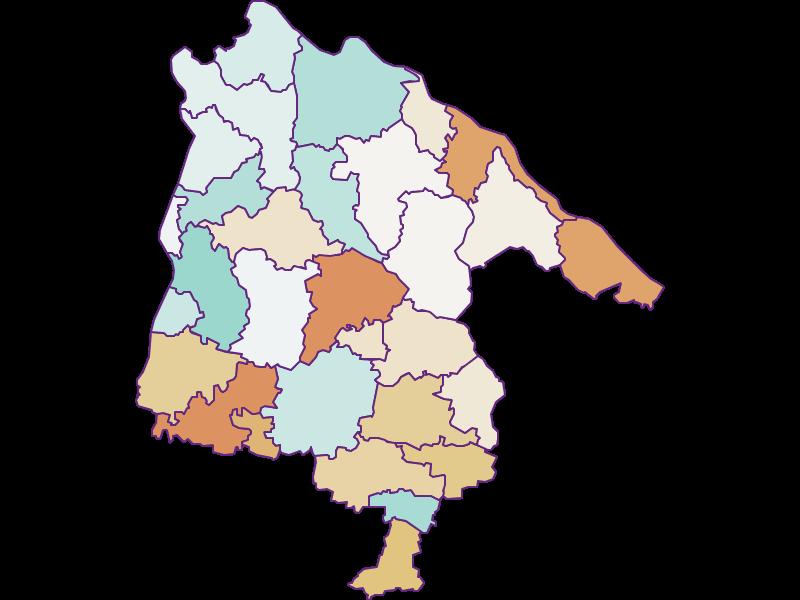 Population development since 1900 in Schärding