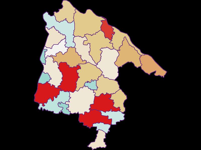 Population development since 2011 in Schärding