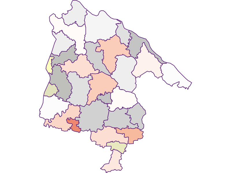 Farmers (comparison to federal state) in Schärding