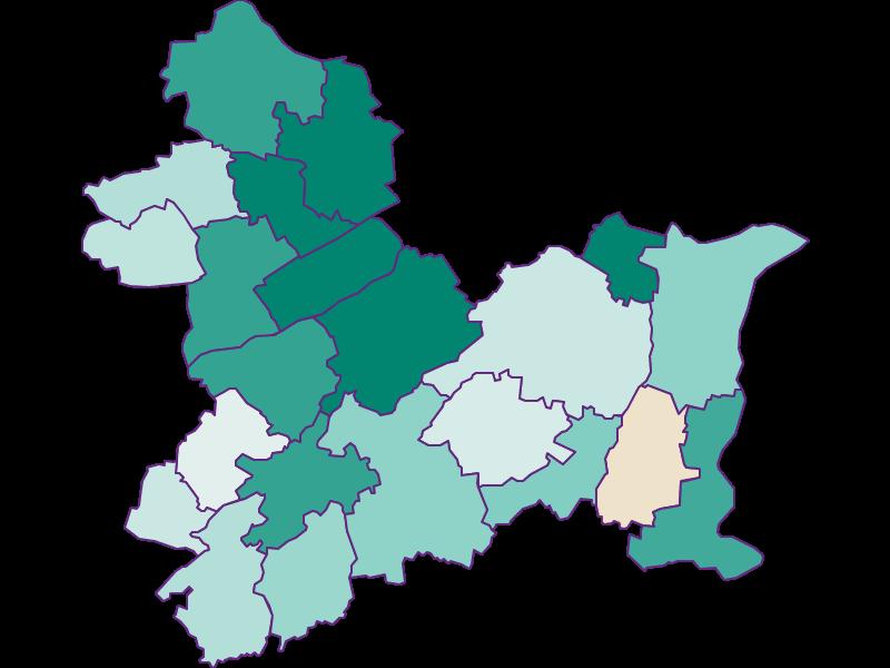 Population development since 1869 in Linz-Land