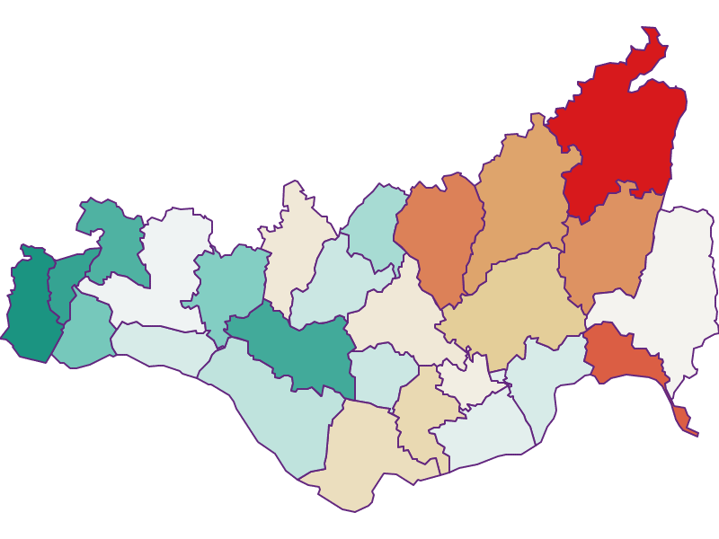 Population development since 1900 in Perg