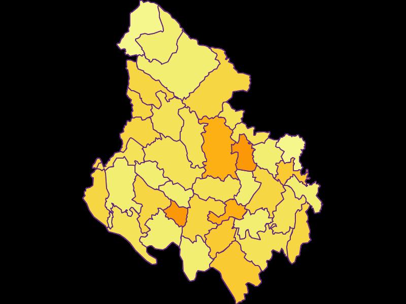 Population density in Rohrbach