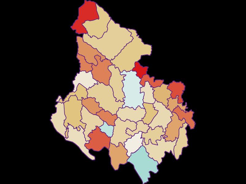 Population development since 1900 in Rohrbach