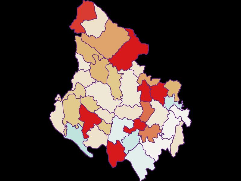 Population development since 2011 in Rohrbach
