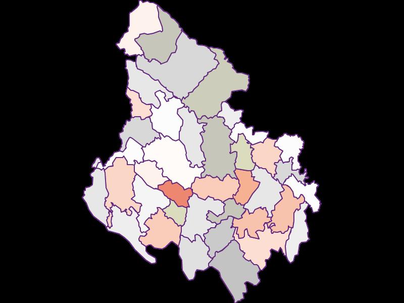 Farmers (comparison to federal state) in Rohrbach
