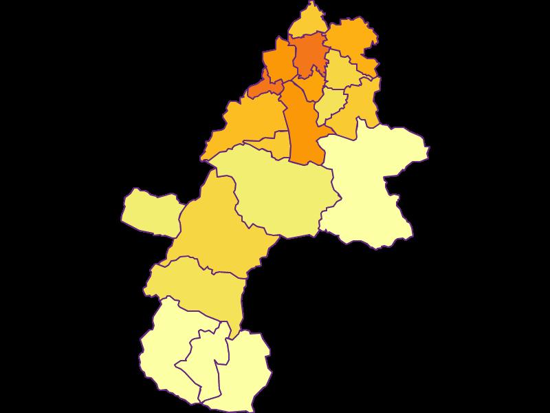 Плотность населения в Gmunden