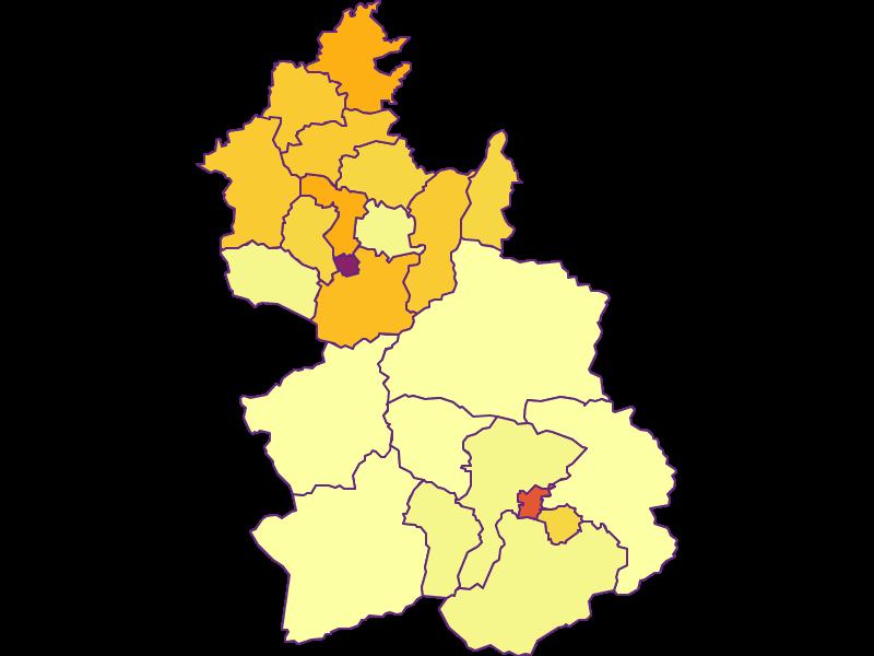 Population density in Kirchdorf an der Krems