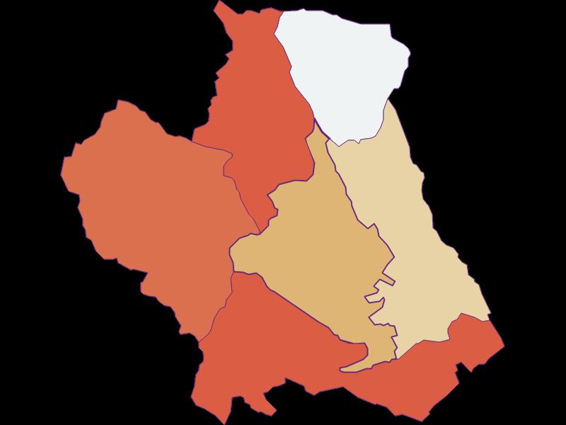 Population development since 1900 in Kobersdorf