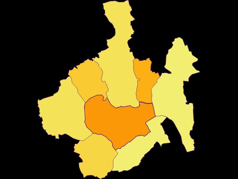 Плотность населения в Oberwart