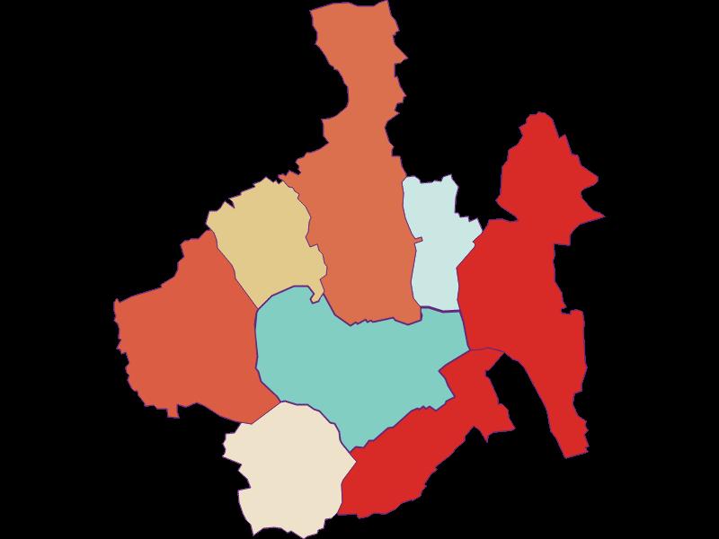 Population development since 1869 in Oberwart