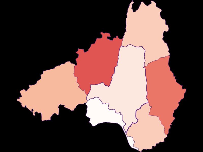 Farmers (comparison to federal state) in Waldhausen im Strudengau