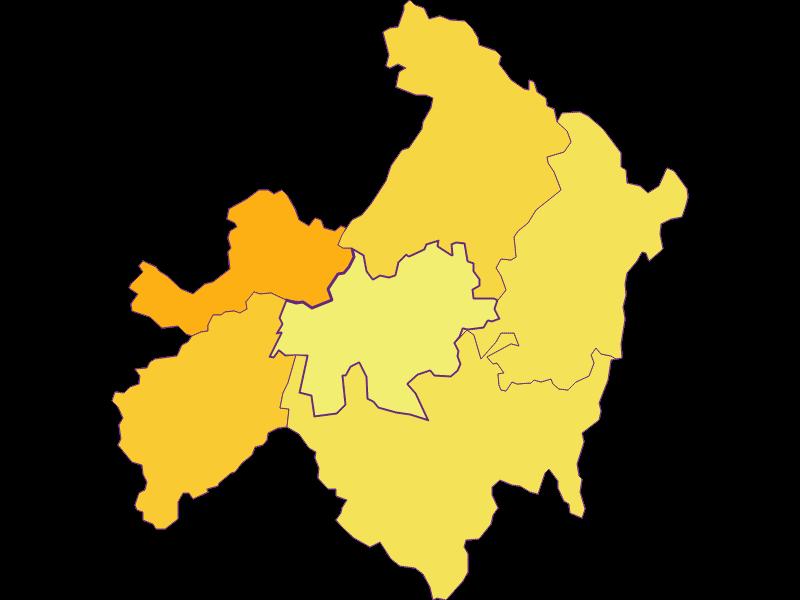 Population density in St. Ulrich im Mühlkreis