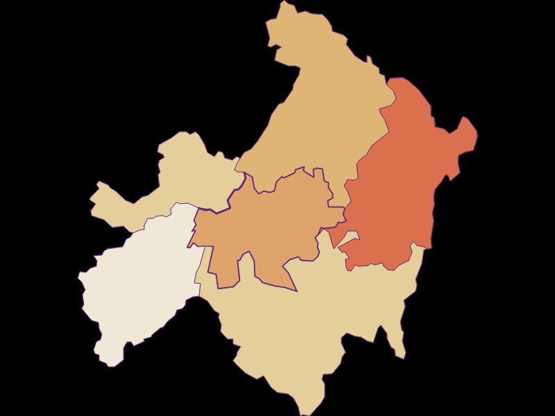 Population development since 1869 in St. Ulrich im Mühlkreis