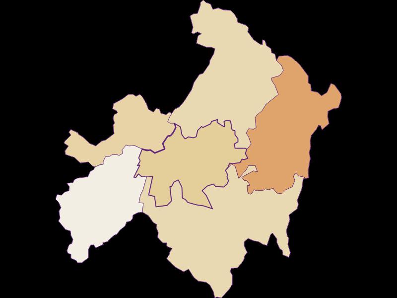 Population development since 1900 in St. Ulrich im Mühlkreis