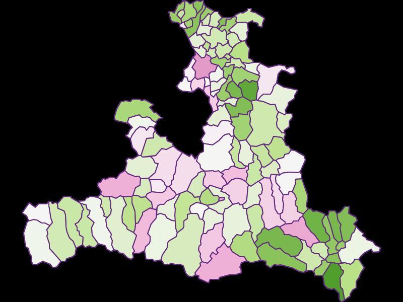 Заселённость: Зальцбург - Австрия - География, экономика, статистика | Similio