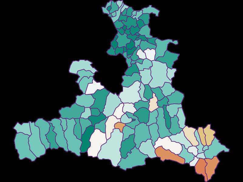 Прирост населения за 1900-2018 | Зальцбург