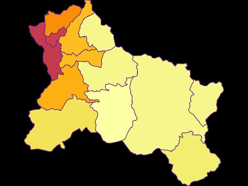 Плотность населения в Hallein