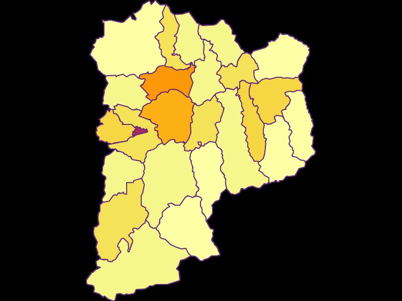 Плотность населения в Sankt Johann im Pongau