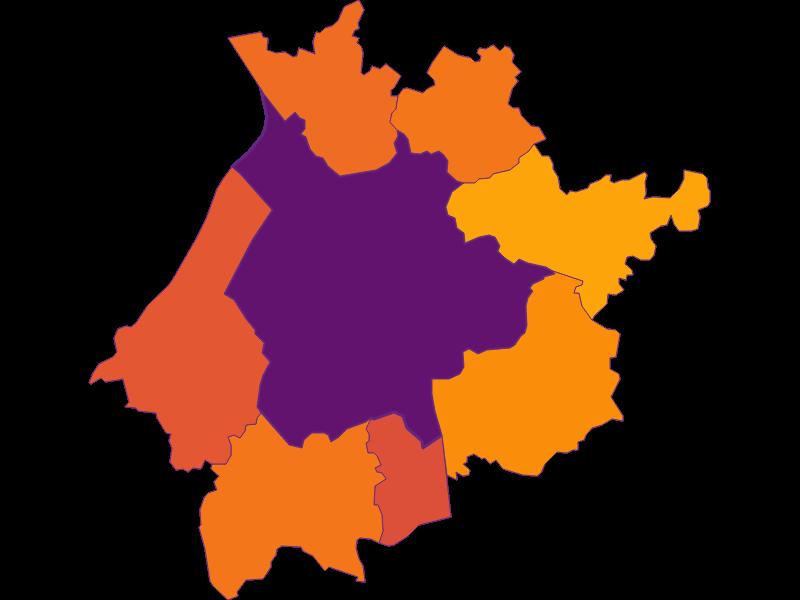 Population density in Salzburg