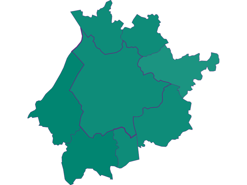 Population development since 1869 in Salzburg