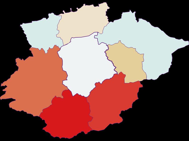 Population development since 1900 in Frankenfels