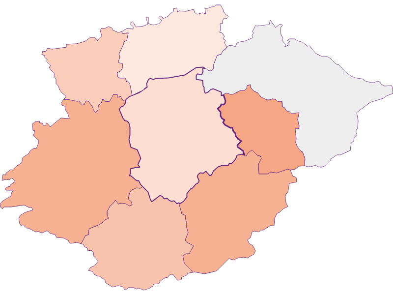 Farmers (comparison to federal state) in Frankenfels