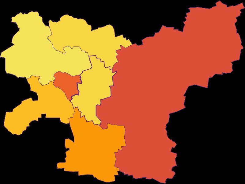 Плотность населения в Gerersdorf