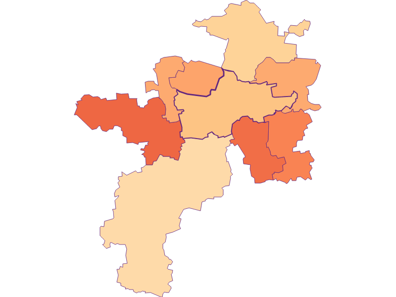 Household size in Herzogenburg