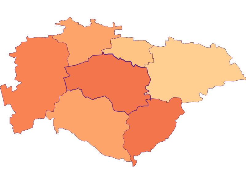 Размер домохозяйства в Hofstetten-Grünau
