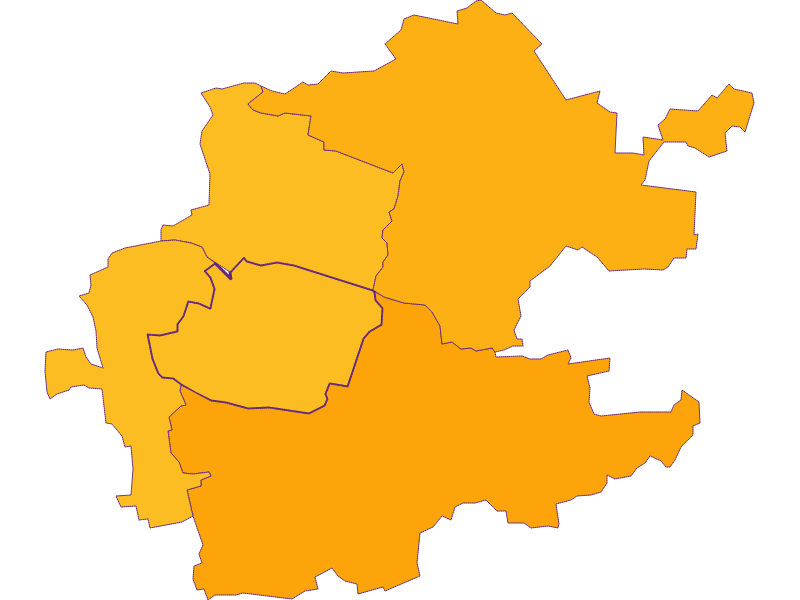 Плотность населения в Inzersdorf-Getzersdorf