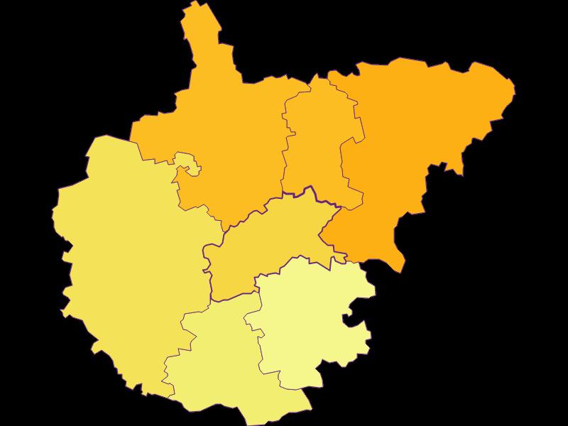 Плотность населения в Kasten bei Böheimkirchen