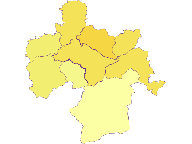 Population density in Kirchberg an der Pielach