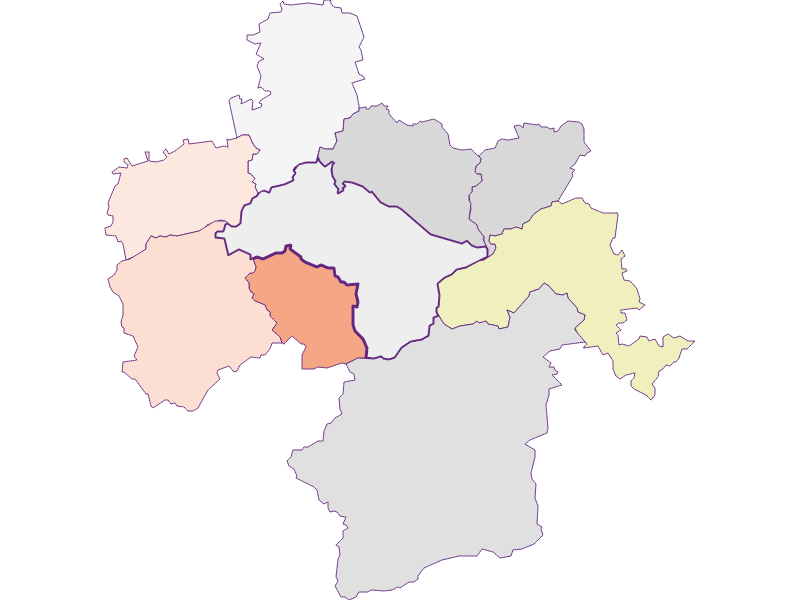 Farmers (comparison to federal state) in Kirchberg an der Pielach