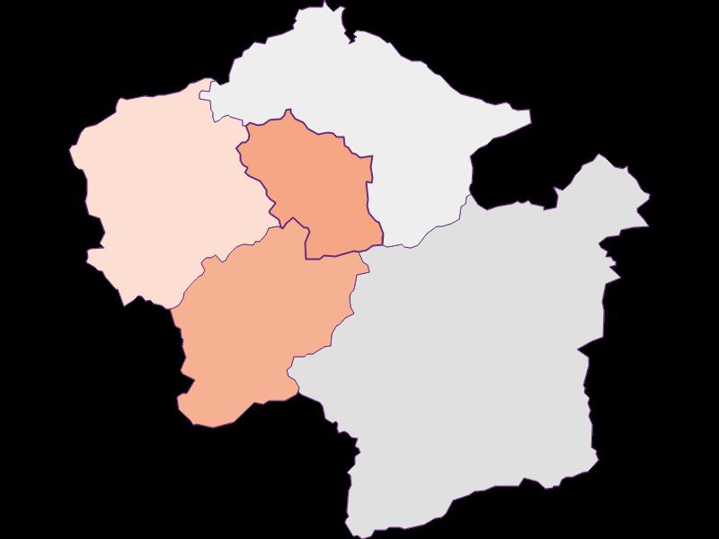 Farmers (comparison to federal state) in Loich