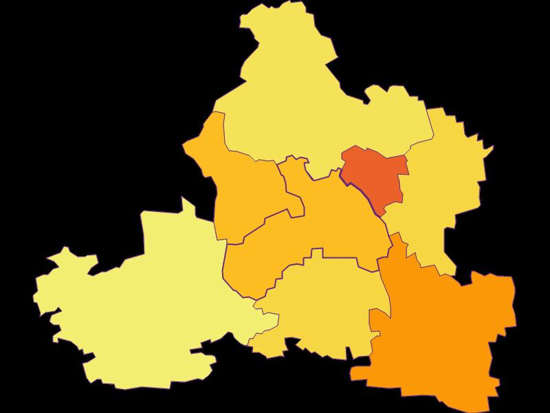 Population density in Markersdorf-Haindorf