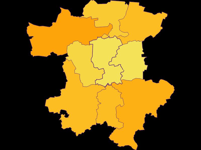 Плотность населения в Perschling