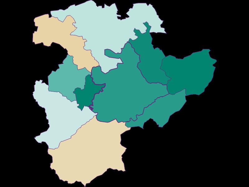Population development since 1869 in Pressbaum