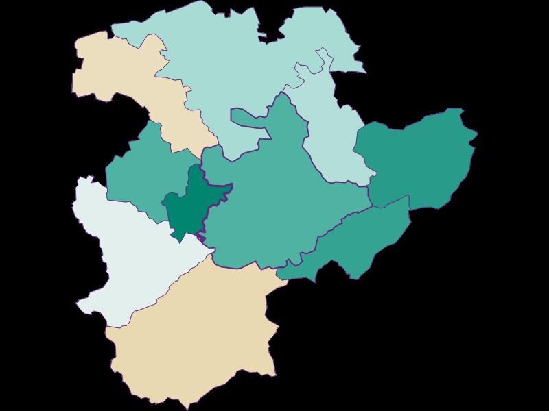 Population development since 1900 in Pressbaum
