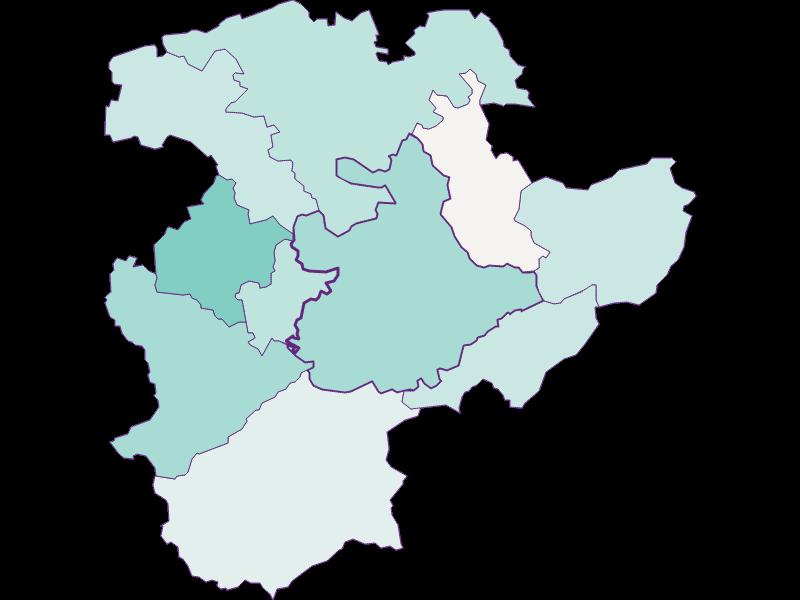Population development since 2011 in Pressbaum