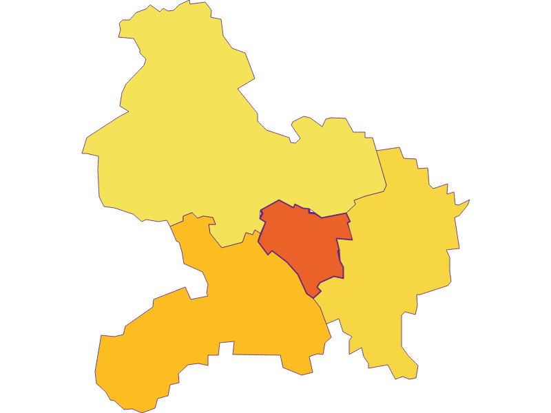 Population density in Prinzersdorf