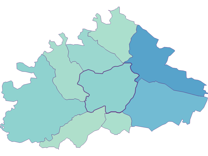 Share of foreigners in Purkersdorf