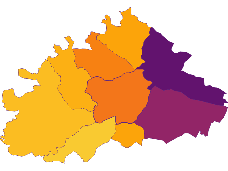 Population density in Purkersdorf