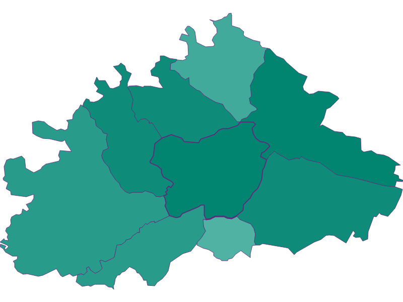 Population development since 1869 in Purkersdorf