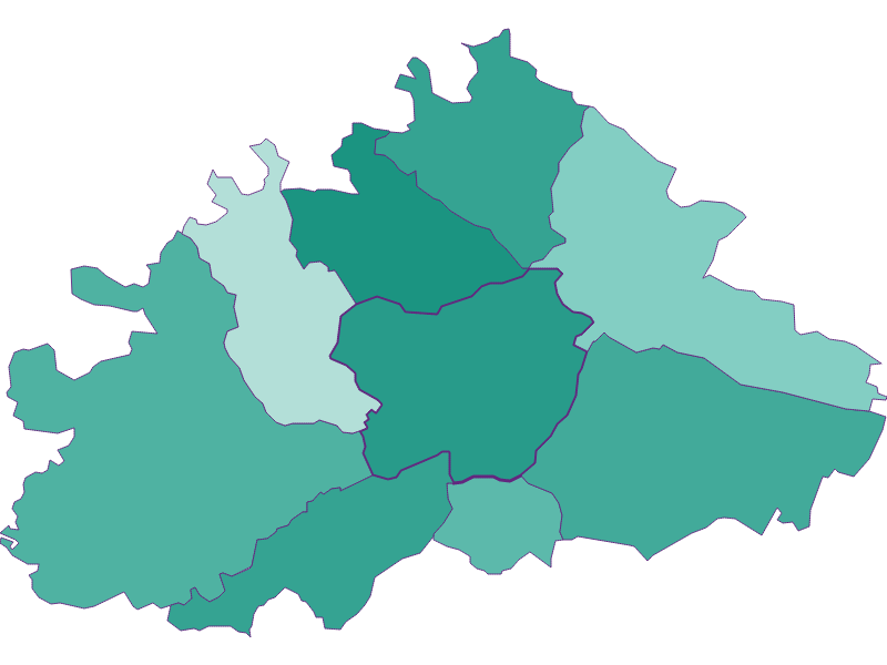 Population development since 1900 in Purkersdorf