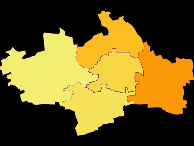 Population density in St. Margarethen an der Sierning