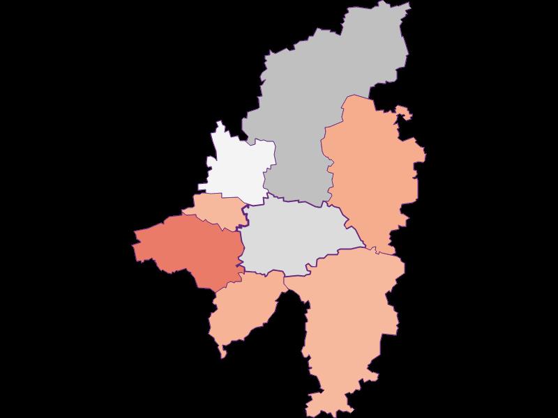 Activity rate in Wilhelmsburg
