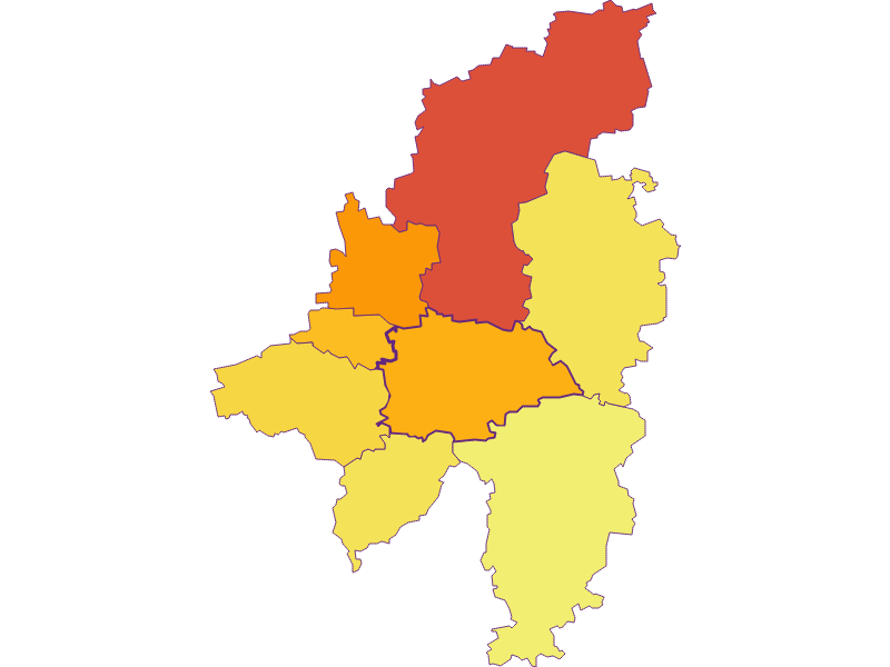 Population density in Wilhelmsburg