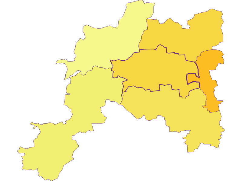 Population density in Wölbling